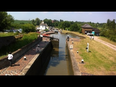 The Three Locks on the Grand Union Canal