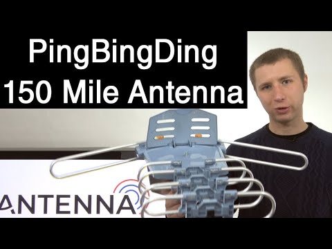 Pingbingding 150 Mile Amplified Outdoor HD TV Antenna Review