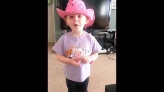 3yr old sings Ball Cap by Glen Templeton