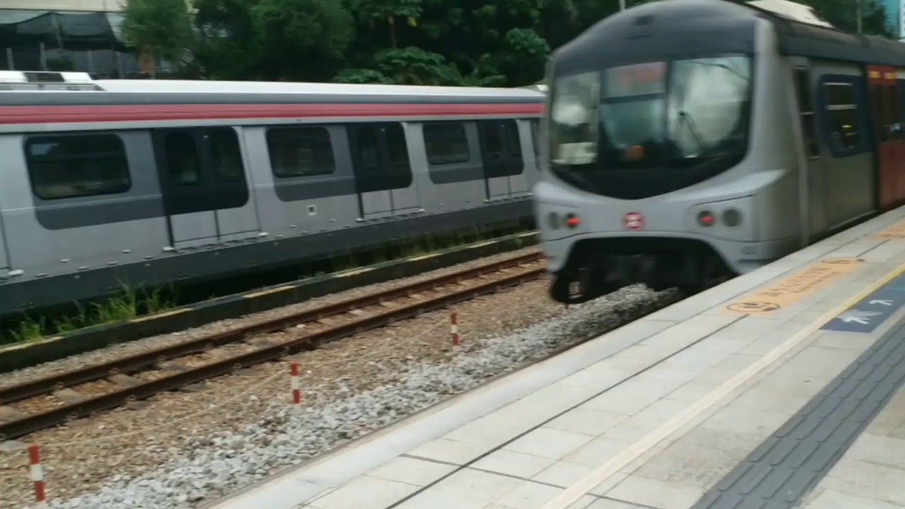 [MTR] 港鐵東鐵綫現代Rotem列車(R-train)停放在沙田站 - YouTube