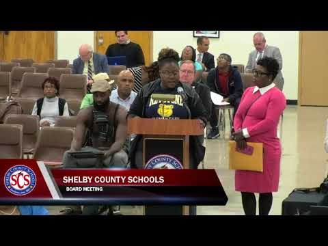 Shelby County School Board Meeting | Oct. 31, 2017