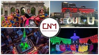 Varios países celebraron la independencia de México.