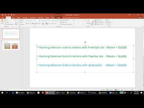 Jenkins - Running selenium suite (Maven + TestNG) - SlokamQA