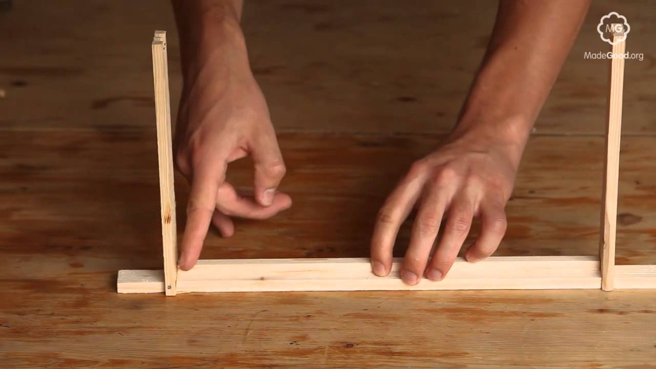 Beekeeping - Constructing A Frame For A Beehive - YouTube