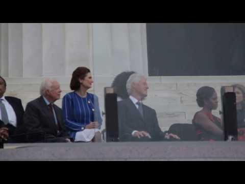 Presidents listening to Music - March on Washington D.C. 2013