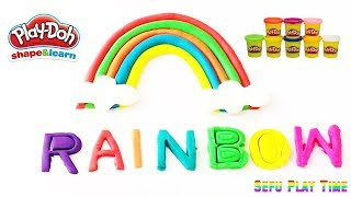 PLAY-DOH RAINBOW and Kids can learn colors.