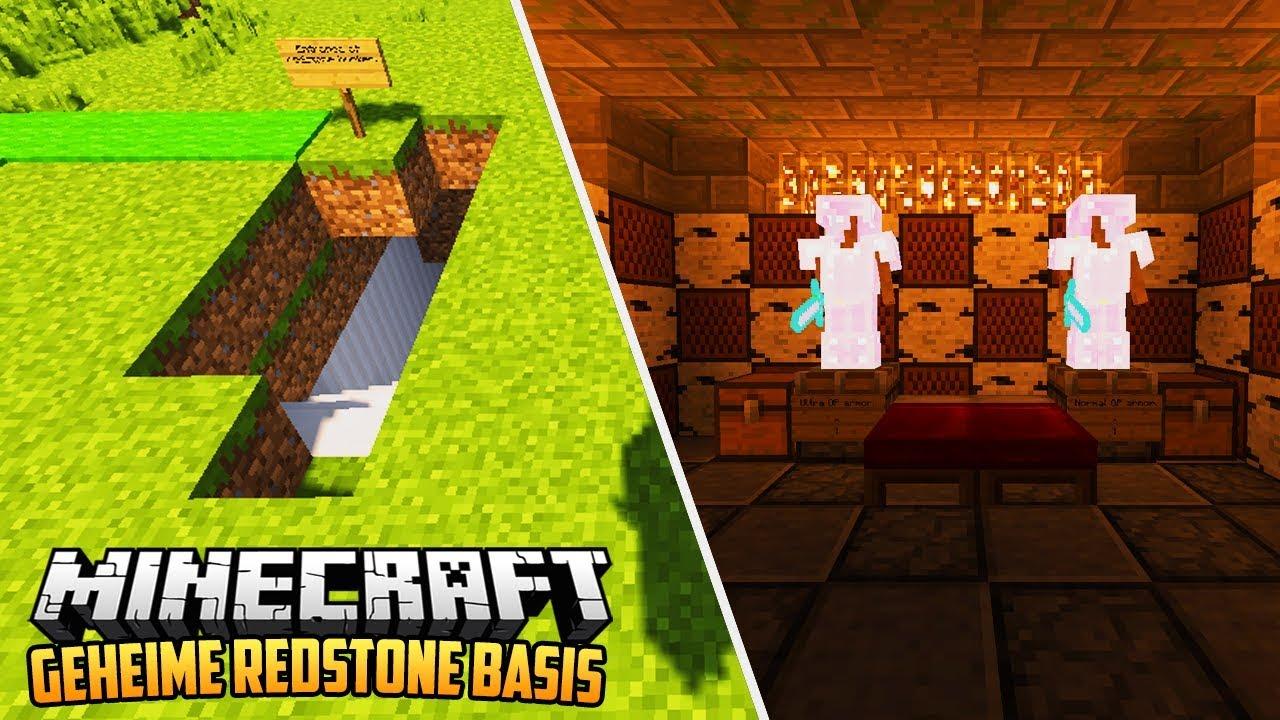 GEHEIME REDSTONE BASIS Minecraft Redstone Showcase YouTube - Minecraft geheime hauser