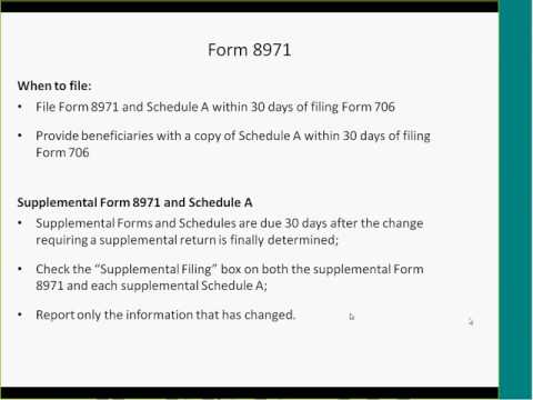 Form 8971 processing in ONESOURCE Trust & Estate Administration