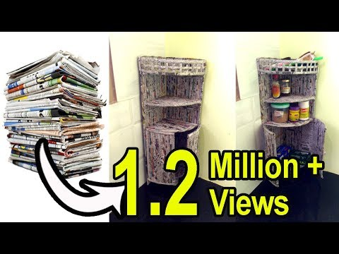 How to make a Multi purpose CORNER SHELF | Kitchen Shelf