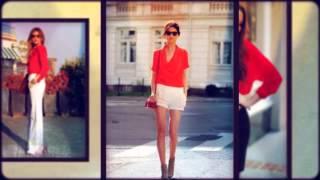 видео С чем носить красную рубашку? Или femme fatale отправляется в офис!
