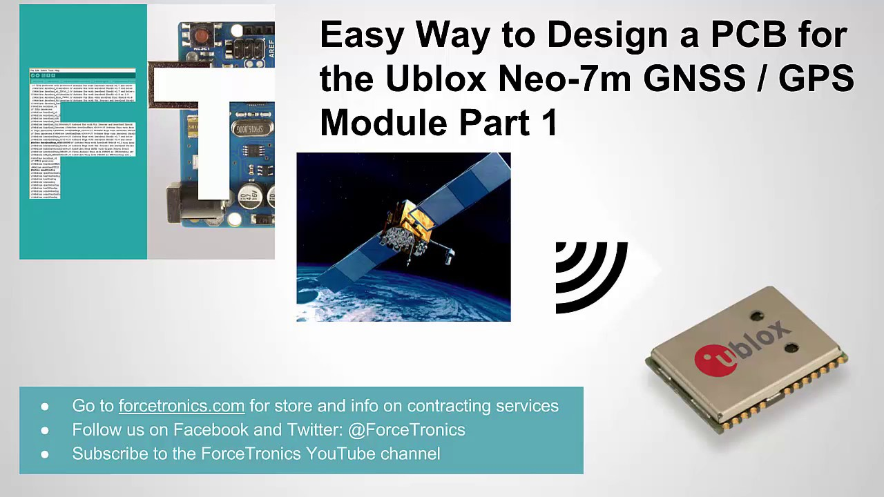 Easy Way to Design a PCB for the Ublox Neo-7m GNSS / GPS Module