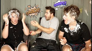 Pie to the Face Challenge Ft. Harrison & Anderson Webb