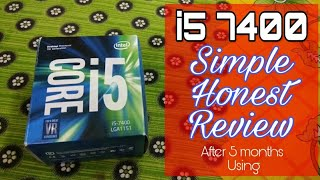 Intel i5 7400 Simple and Honest Review in HINDI after using 5 Months