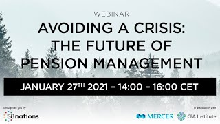 S8nation Pensions Webinar - Avoiding a Crisis: The Future of Pension Management