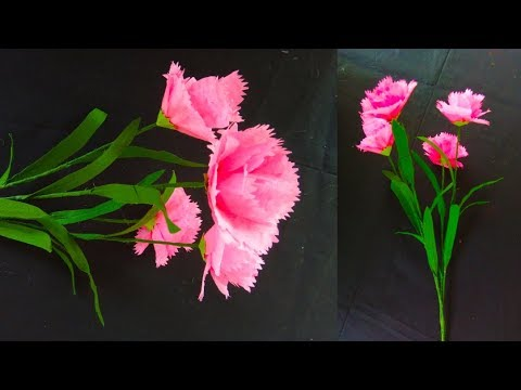 How To Make Orchid Flower With Color Tissue Paper | Pretty Paper Flower Making Ideas