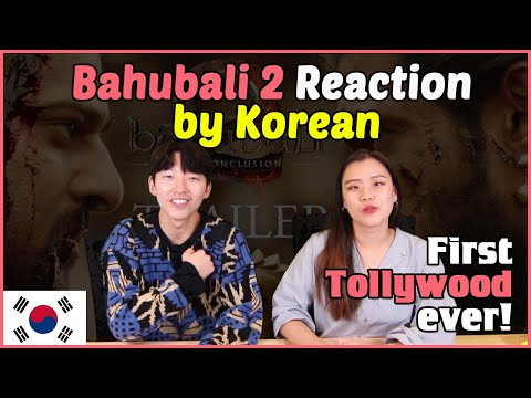 BAHUBALI 2 - THE CONCLUSION │Bahubali Trailer Reaction By Korean│Tollywood Reaction