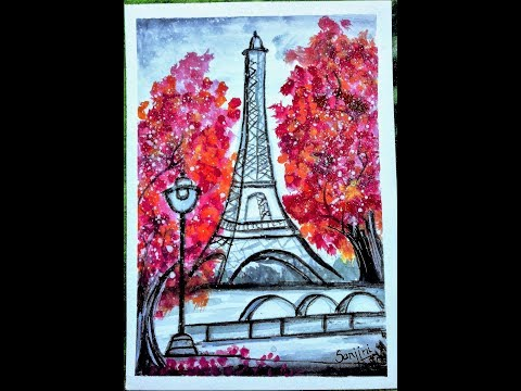 Eiffel Tower - A Water Color Painting