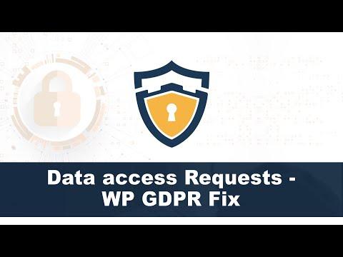 Data access Requests - WP GDPR Fix