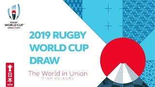 The Official Rugby World Cup 2019 Pool Draw thumbnail