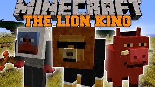 Minecraft: LION KING MOD (3 EPIC DIMENSIONS, QUESTS, AND STORY!) Mod Showcase