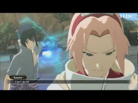 Naruto: Ultimate Ninja Storm 3: Full Burst - Sasuke vs Team 7 Boss Battle (Best Version) HD