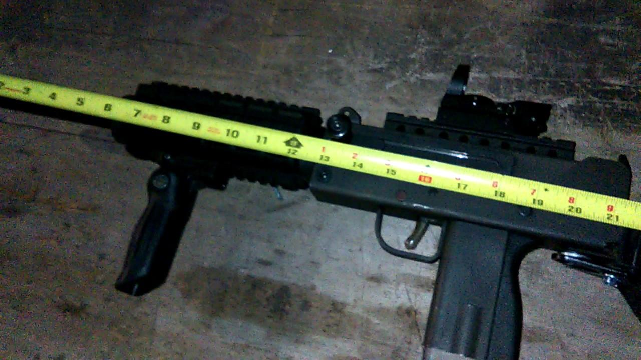 Custom-made MAC-10 carbine 45 ACP