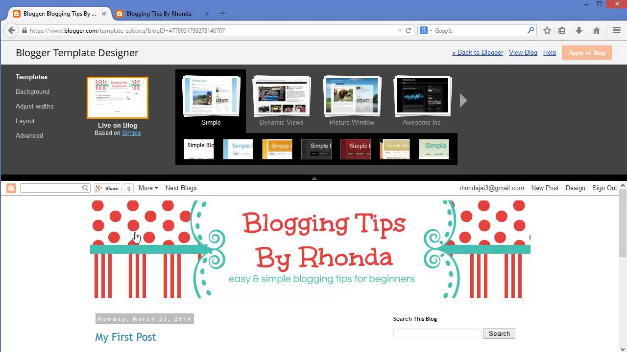 How To Add A Header Banner and Customize Your Blogger Template - YouTube