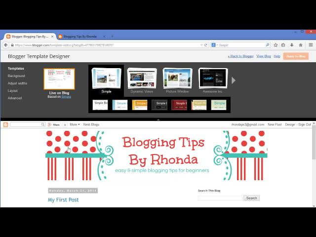How To Add A Header Banner and Customize Your Blogger Template