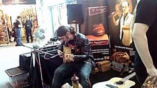 PJ d'Atri jamming at TimberTones Booth in Frankfurt Musikmesse 2013 - part 3