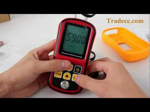 Digital Ultrasonic Thickness Gauge + Sound Velocity Measurement - Auto Calibration