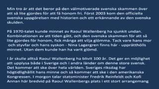 Olle Wästbergs tal i Stockholms Stora Synagoga i minnestunden för Förintelsen