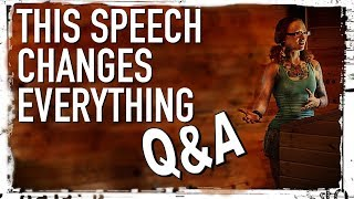 The Change Everything Speech: Q&A Session