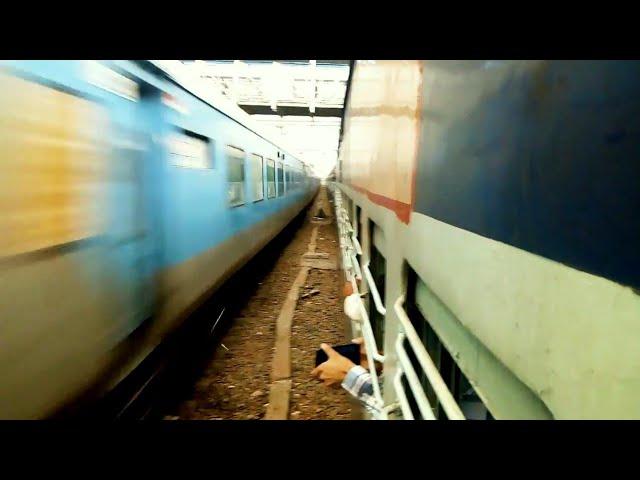 12005 Kalka Shatabdi Overtaking 54303 Delhi-Kalka Passenger at Panipat Junction