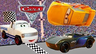 Cars 3 Rusteze Cruz Flips over Jackson Storm at the Finish Line to Win Piston Cup!