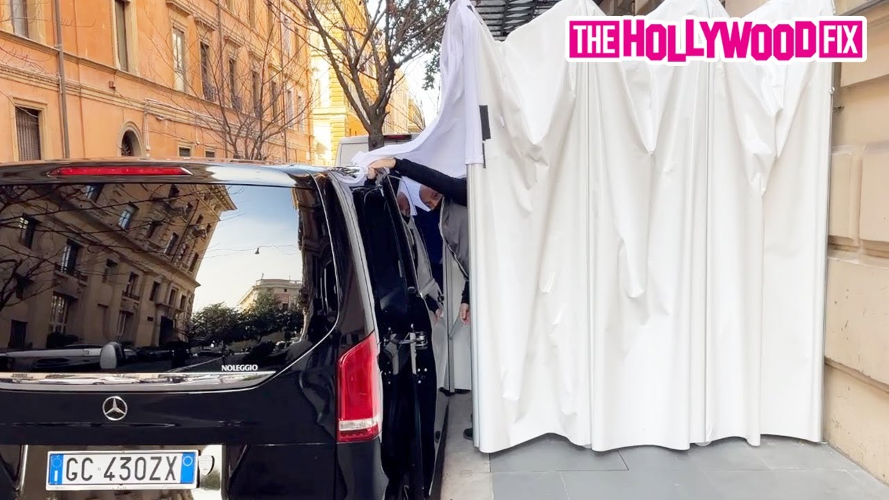 Lady Gaga's Security Does The Absolute Most To Shield Her From Paparazzi While Leaving Her Hotel