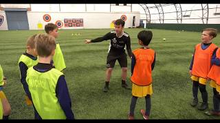 Cover images Soccer Coaching Finishing 1v1s After Passing Combination Part 2 of 4