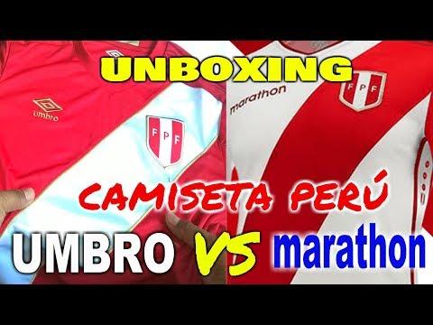 Comparativa Camiseta Peru Umbro vs Marathon