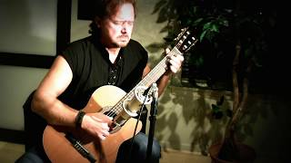 Greensleeves - live studio performance on classical guitar by Franklyn Schaefer