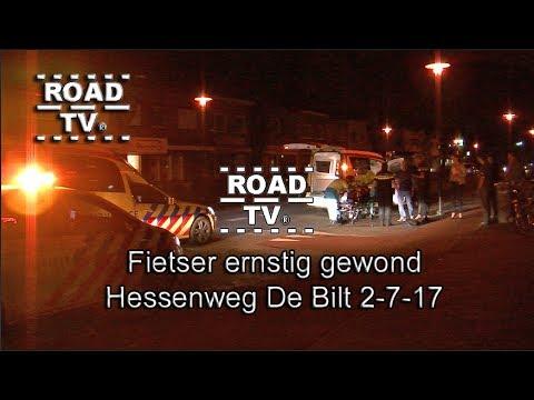 Fietser ernstig gewond op de Hessenweg De Bilt 2-07-17 ROADTV.NL