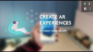 Kod/olmadan Uygulamalar oluşturmak, etkileşimli AR Deneyimler oluşturmak için nasıl