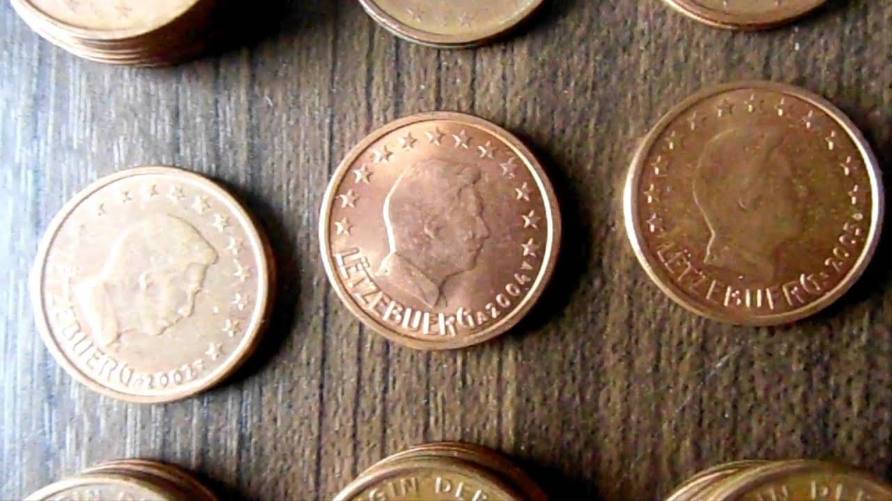 Münzrollenjagd 07 1000x 2 Cent Münzen Youtube