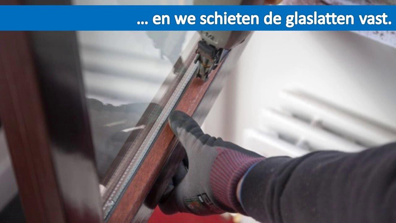 Enkel Glas Vervangen Door Dubbel Glas.Glas Vervangen In Bestaande Houten Ramen Youtube