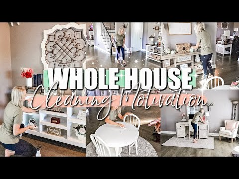 WHOLE HOUSE CLEAN WITH ME 2019|EXTREME CLEANING MOTIVATION|CLEANING MY ENTIRE HOUSE-JESSI CHRISTINE