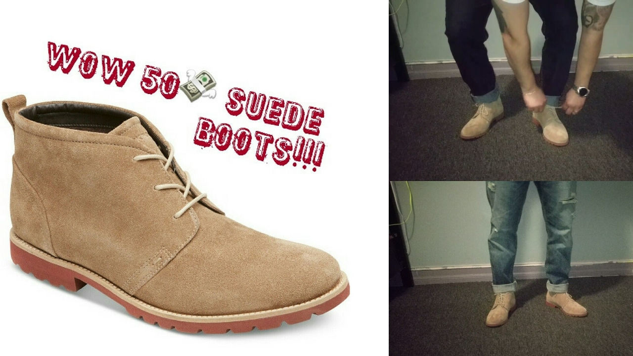 Suede chukka boots and styling tips