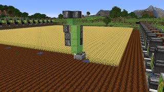 Making A Working Combine Harvester In Minecraft WORKING!! 検索動画 45