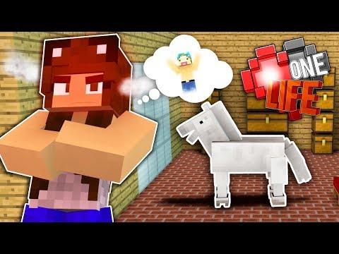 HIDING MY HORSE! 😈   Minecraft One Life