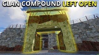 CLAN LEFT THEIR COMPOUND DOOR OPEN! - Rust Solo Survival Gameplay
