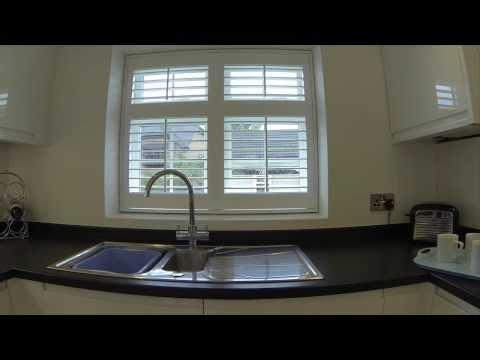 How to fit Vinyl window shutters in a kitchen window