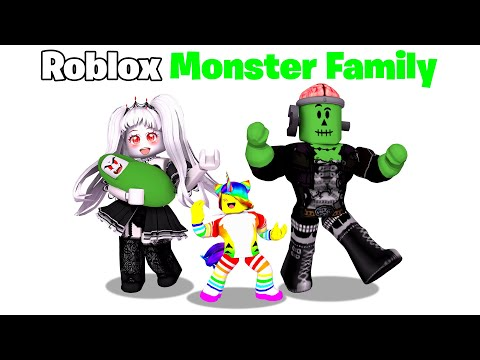 BABY Tofuu gets Adopted by MONSTER FAMILY..  👻🧠(Roblox)