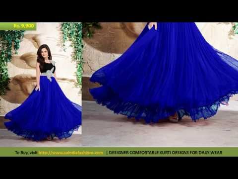 Buy Online Dress - Modern New Arrivals Splendid Party Wear Hand Work Floor Touch Gowns